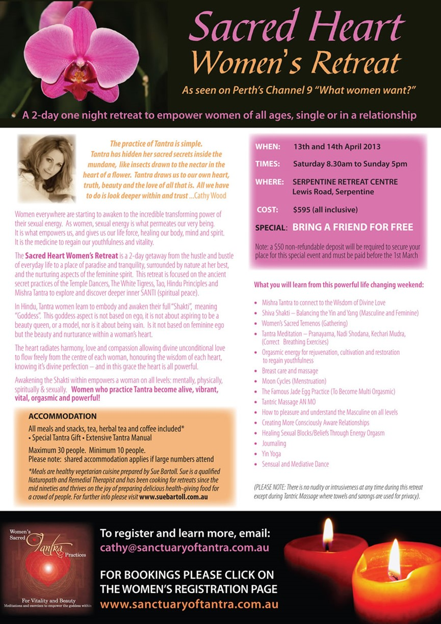 Sacred Heart Womens Retreat Flyer