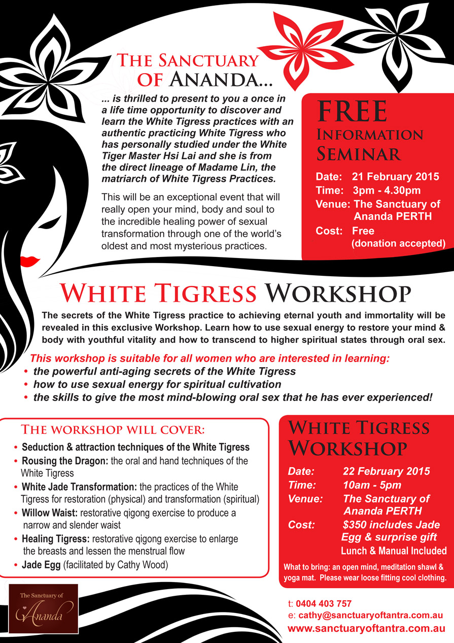 The Sexual Teachings Of The White Tigress: Secrets Of The Female Taoist Masters Free Download --